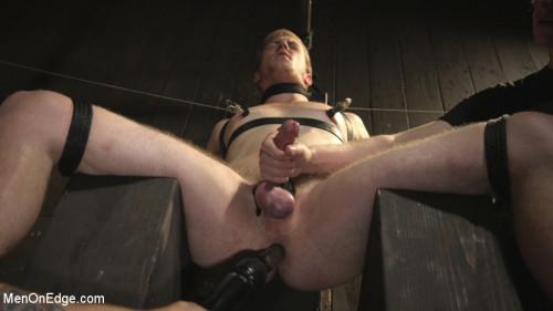 Gay BDSM Edging the Captive Straight Boy