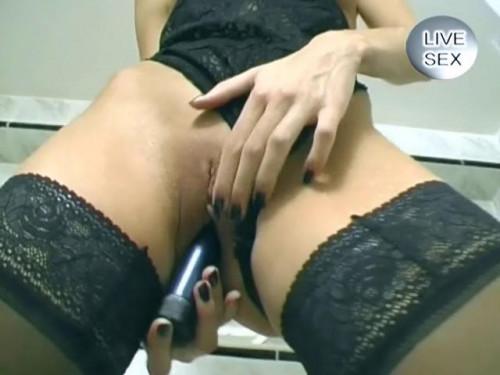 Fisting and Dildo Bathroom porn moments