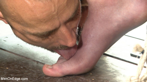 Gay BDSM Cass Bolton - Muscled stud with huge balls gets the edging of his life