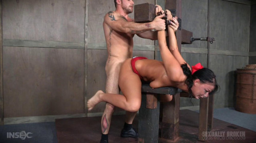 bdsm London Doesnt Let Bondage Stop Her From Taking Dick Balls Deep Down Her Throat
