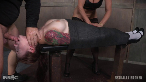 bdsm Part 2 Anna De Ville Mummified With Vibrator and Throat Boarded By Couple