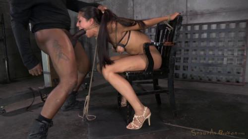 bdsm Lyla Storm brutally bound in strict strappado
