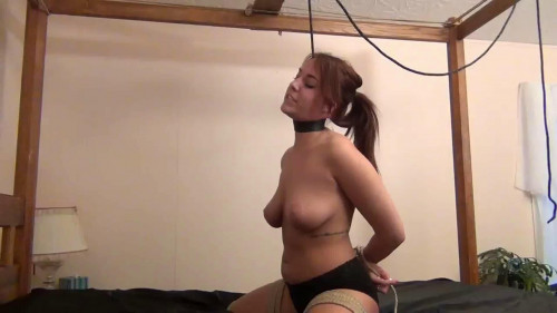 bdsm Extreme bondage, hanging and predicament for beautiful girl