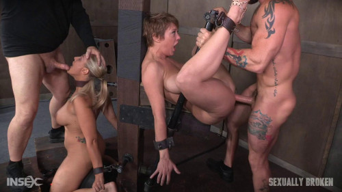 bdsm Angel Dee Tied Back to Back Anal Use Massive Squirting Orgasms (2016)
