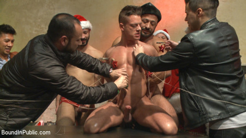 Gay BDSM Stuffing the holiday whore