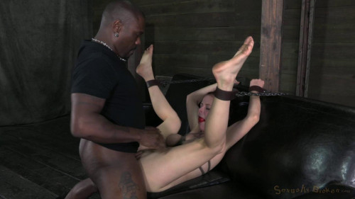 bdsm Tiny, big natural breasted redhead Penny Pax fucked into the ground by 2 dicks