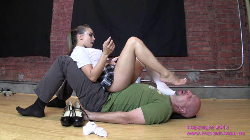 Femdom and Strapon Sasha Foxxx Bratty School Girl Sits on Her Sugar Dummy (2015)