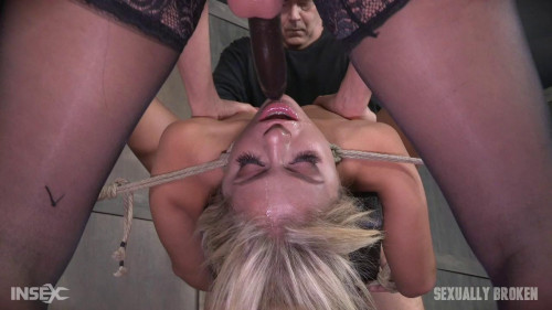 bdsm Madelyn Monroe - Super Hot Madelyn Tied With Legs Spread Wide and Tag Teamed By Couple (2016)