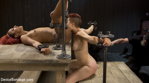 bdsm Two Sluts Suffer in Grueling Bondage with Squirting Orgasms