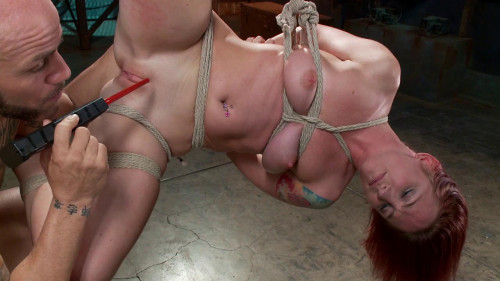 bdsm FB - 04-04-2014 - Newbie gets brutally fucked in tight bondage