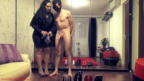 Femdom and Strapon Mistress Ezada The shoe fetishist s milking (2016)