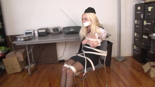 bdsm Bound and Gagged - Stewardess Bound in Uniform - Danielle Trixie