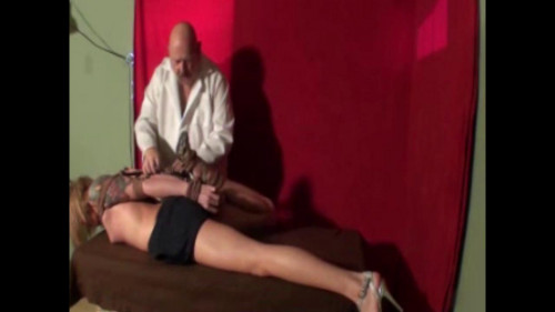 bdsm Bella Table Hogtie