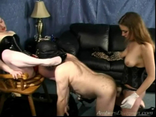 Femdom and Strapon Sissy Suck - LE