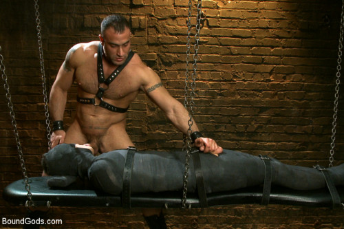 Gay BDSM 19 year old boy gets his BDSM cherry popped by Spencer Reed