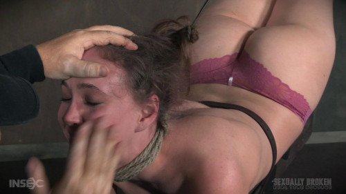 bdsm Sierra is bent backward in an impossible looking position and skull fucked brutally.