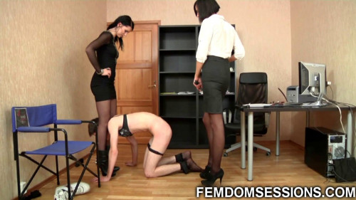 Femdom and Strapon Feminized at a job interview