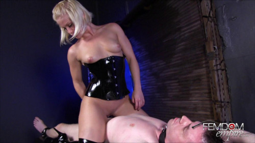 Femdom and Strapon Ash Hollywood - Slave Cock Ride