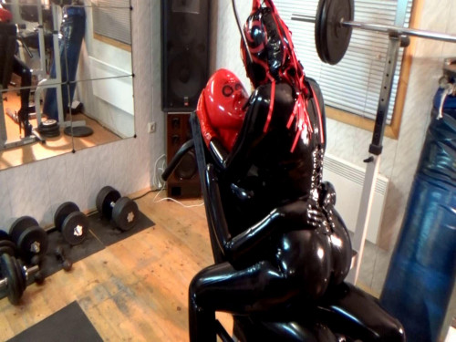 bdsm Sex girls in latex in the gym (2016)