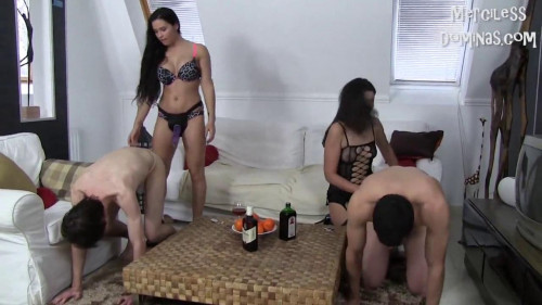 Femdom and Strapon Mira Cuckold, Alina - Strap-On Party