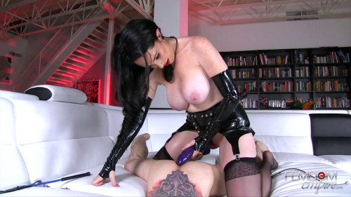 Femdom and Strapon Owned Slave Ass
