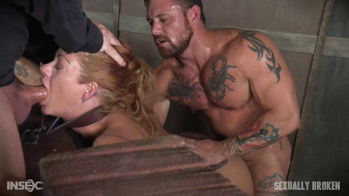 bdsm Hot Blonde Holly Heart big tits dicked down face fucked into oblivion. Extreme (2016)