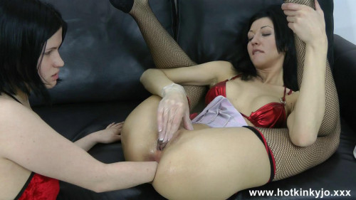 Fisting and Dildo Hot Kinky Jo - Two Sexy Playful Lady