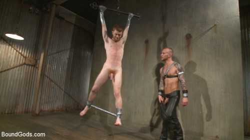 Gay BDSM Slave 523 Endures Tape Doms