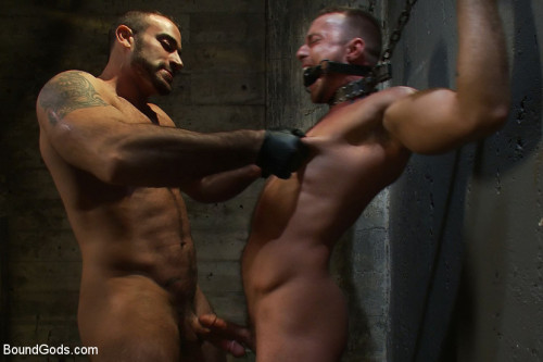 Gay BDSM The Most Violent Orgasm in Bound Gods History