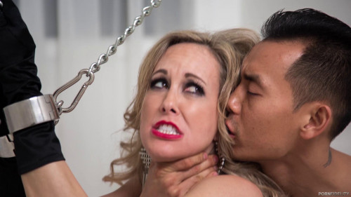 bdsm Porn with the mature beauty of Brandi Love in chains