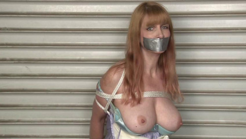 bdsm Bound and Gagged - Bound in her Nightgown in a Warehouse - Lorelei