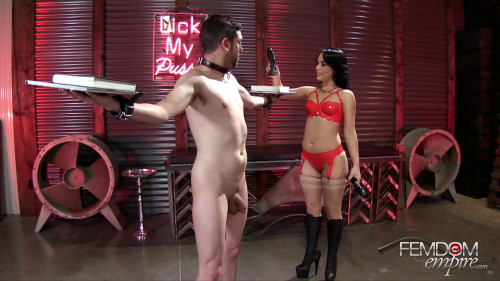 Femdom and Strapon Kristina Rose Kristinas Cruel Ballbusting Game (2016)