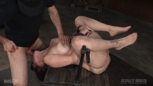 bdsm Grand finale with strict metal bondage