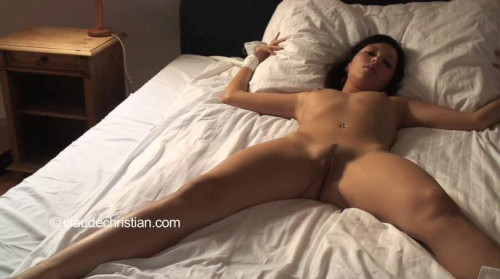 bdsm Daupine tied spread manhandled to orgasm