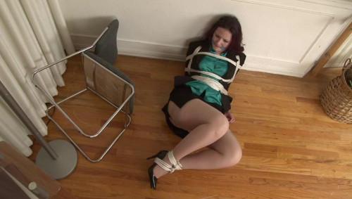 bdsm Bound and Gagged - Secretary Bondage in Heels - Caroline Pierce