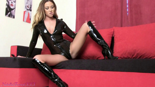 Femdom and Strapon Natalia Forrest - Clean My Boots Slave