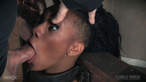 bdsm Metal Bondage and face fuck