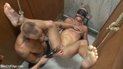 Gay BDSM Scott Riley gets captured, edged and fucked by horny plumbers