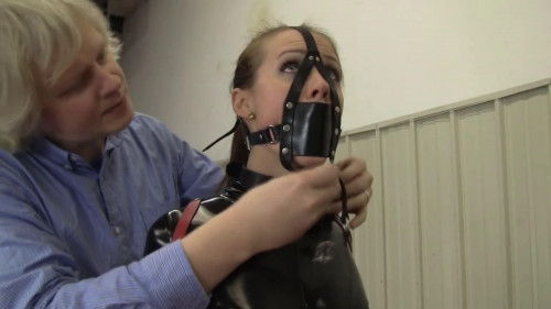 bdsm Tight bondage and hogtie for a hot young girl