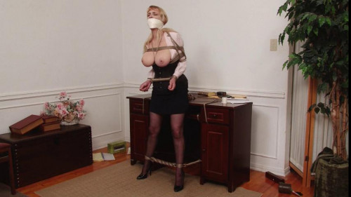 bdsm Bound and Gagged - Desperate Captive LadyBoss Lorelei Regrets Firing Him 3 - Vibrator Orgasm