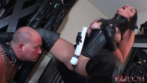 Femdom and Strapon Msr. Michelles Pleasure Slave part 1 - Oral Slave