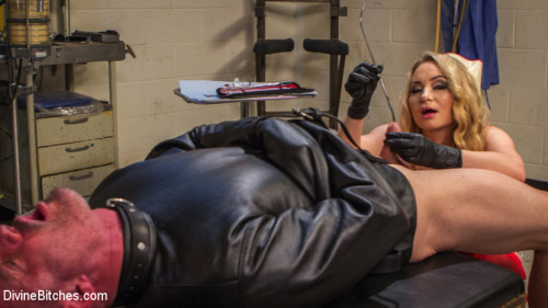 Femdom and Strapon Chronic Masturbator D. Seeks Sick and Twisted Therapy From Aiden Starr