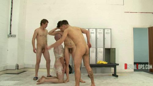 Gay BDSM Brutal Tops - Session 71 - Swim Team Piss Revenge