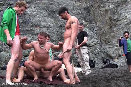 Gay BDSM Sex on The Beach