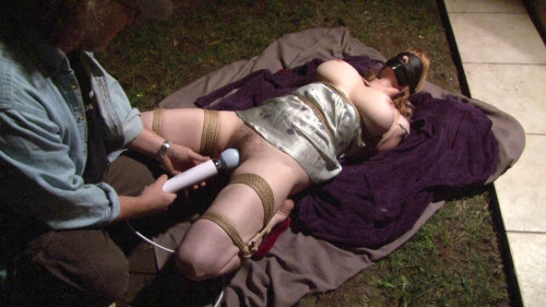 bdsm Bound and Gagged - Loreleis Bound Orgasm in her Slip in the Dark