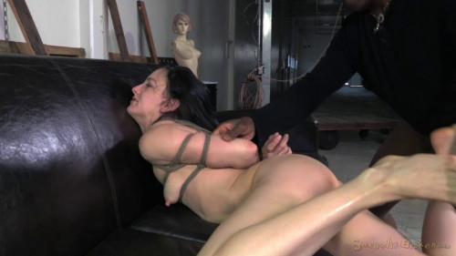 bdsm Tiny Elise Graves ragdoll fucked, brutal deepthroat on 10 inch BBC