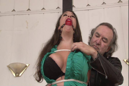 bdsm Bound and Gagged - Roped to the Post - Jewell Marceau