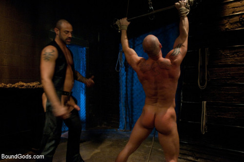 Gay BDSM Muscle Stud and the Electric Ball Crusher