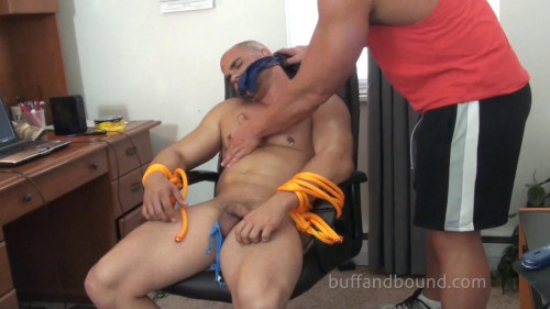 Gay BDSM BuffAndBound Rocky - Web Cam Attack