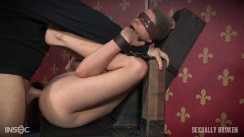 bdsm Bendy Zoey Laine is roughly double fucked to massive squirting orgasms Bound, Gagged and Helpless